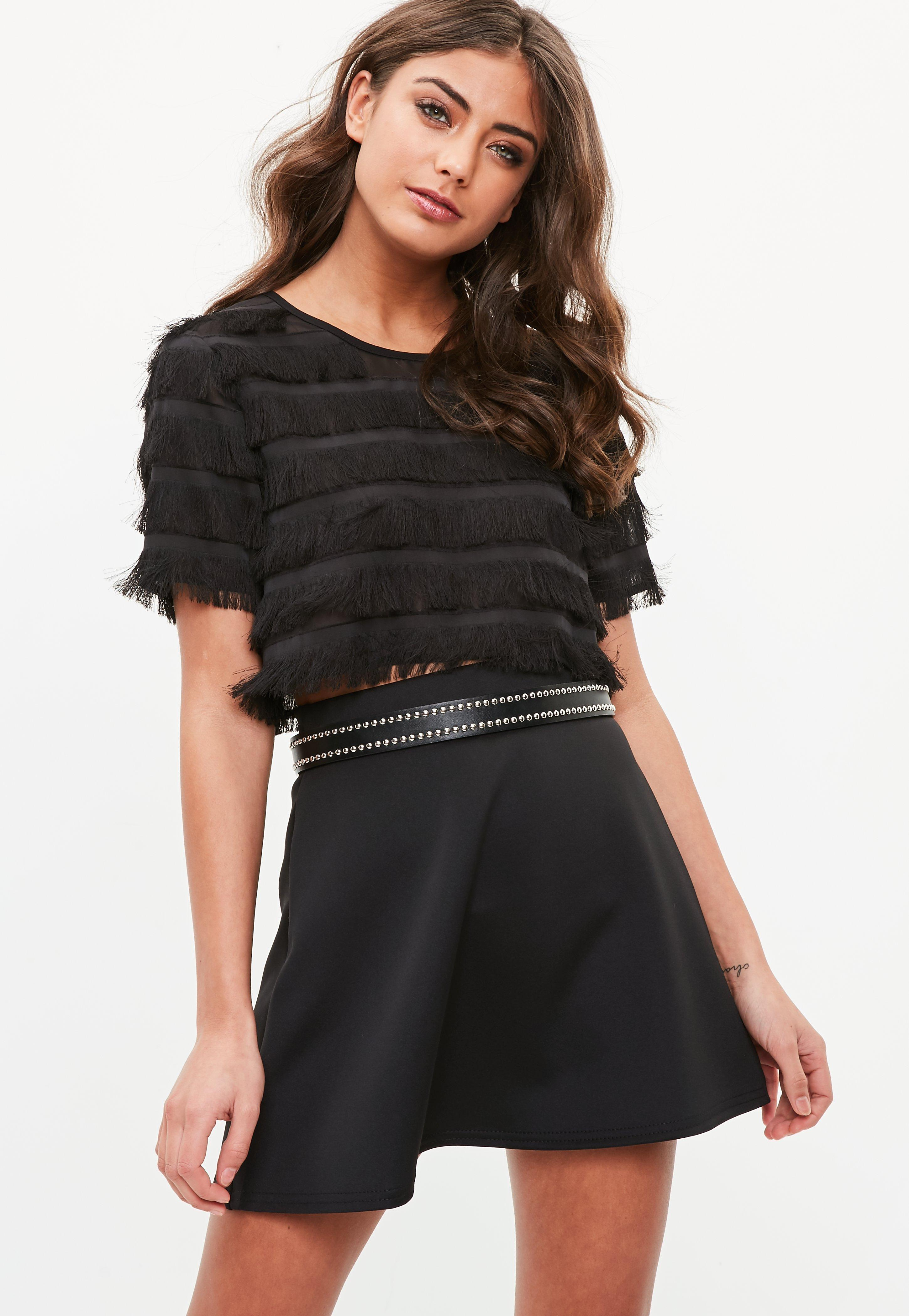 Cheap Best Prices Reliable Sale Online Missguided Rodeo Fringe Crop Top Sale Really 2018 Cheap Online XB7DQyDeK