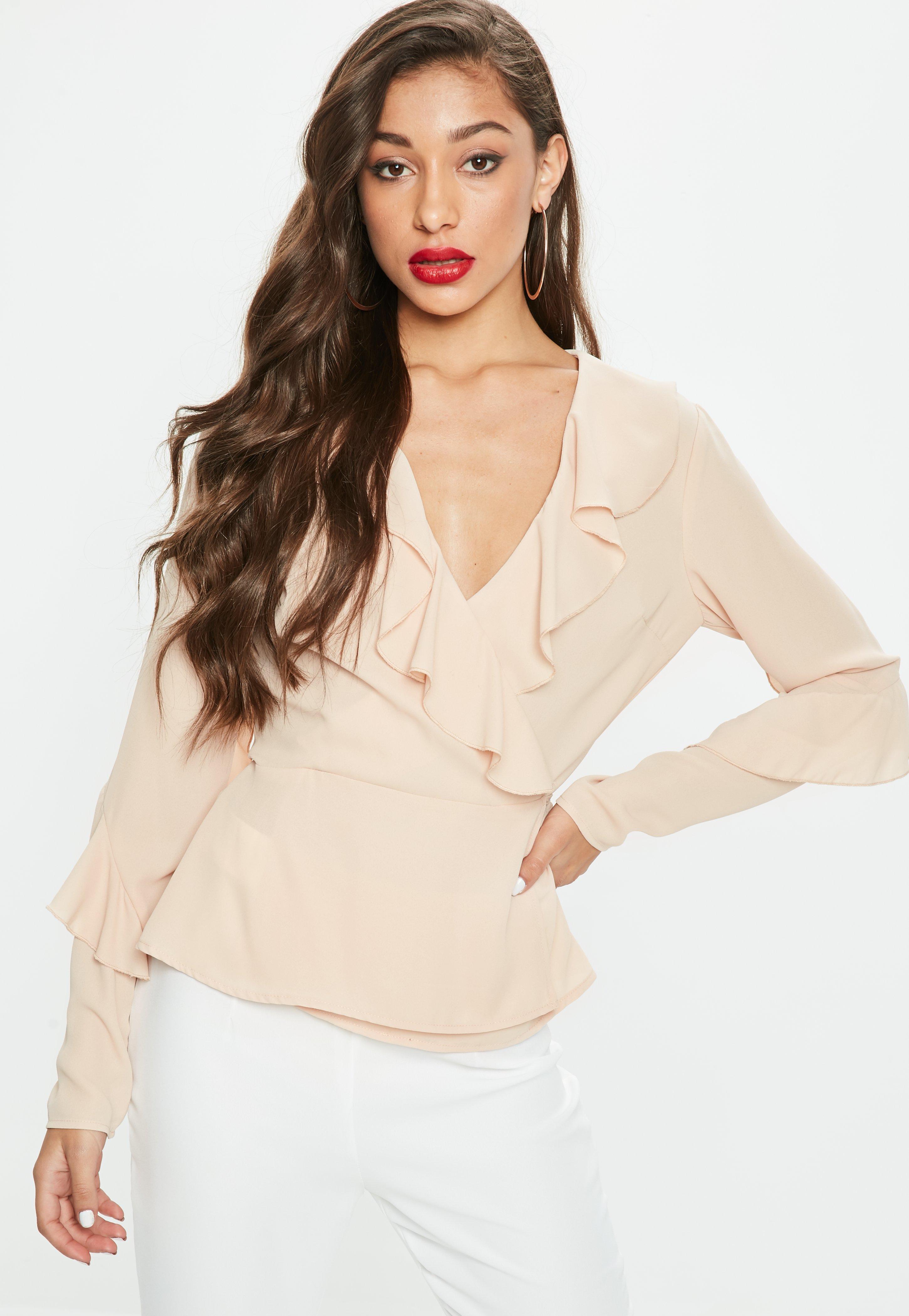 women u0027s blouses floral chiffon u0026 wrap blouses missguided