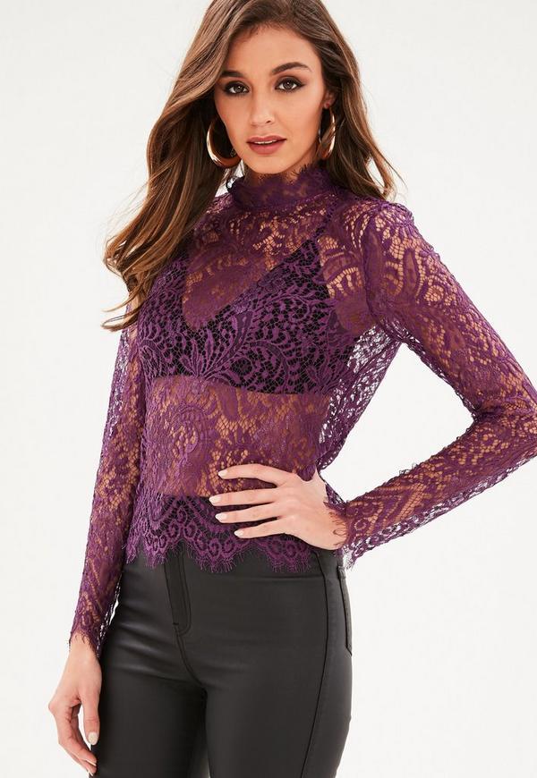 Plus Size Purple Blouse