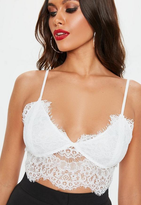 f8e830d338 Premium White Corded Lace Bralet. Previous Next