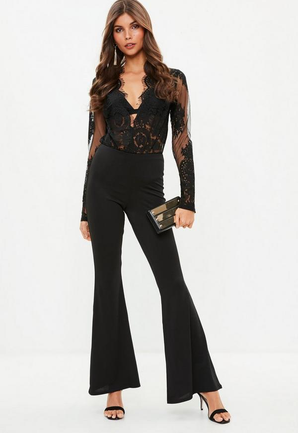 Shimmer Metallic One Shoulder Long Sleeves Bodysuit in Multi. $ $* Ruffle Shoulder Ribbed Knit Bodysuit in Burgundy. $ $* Metallic Ribbed Mesh Bodysuit Maxi Dress in Black To make a sleek fashion statement pair off one of our Floral Lace Bodysuits .