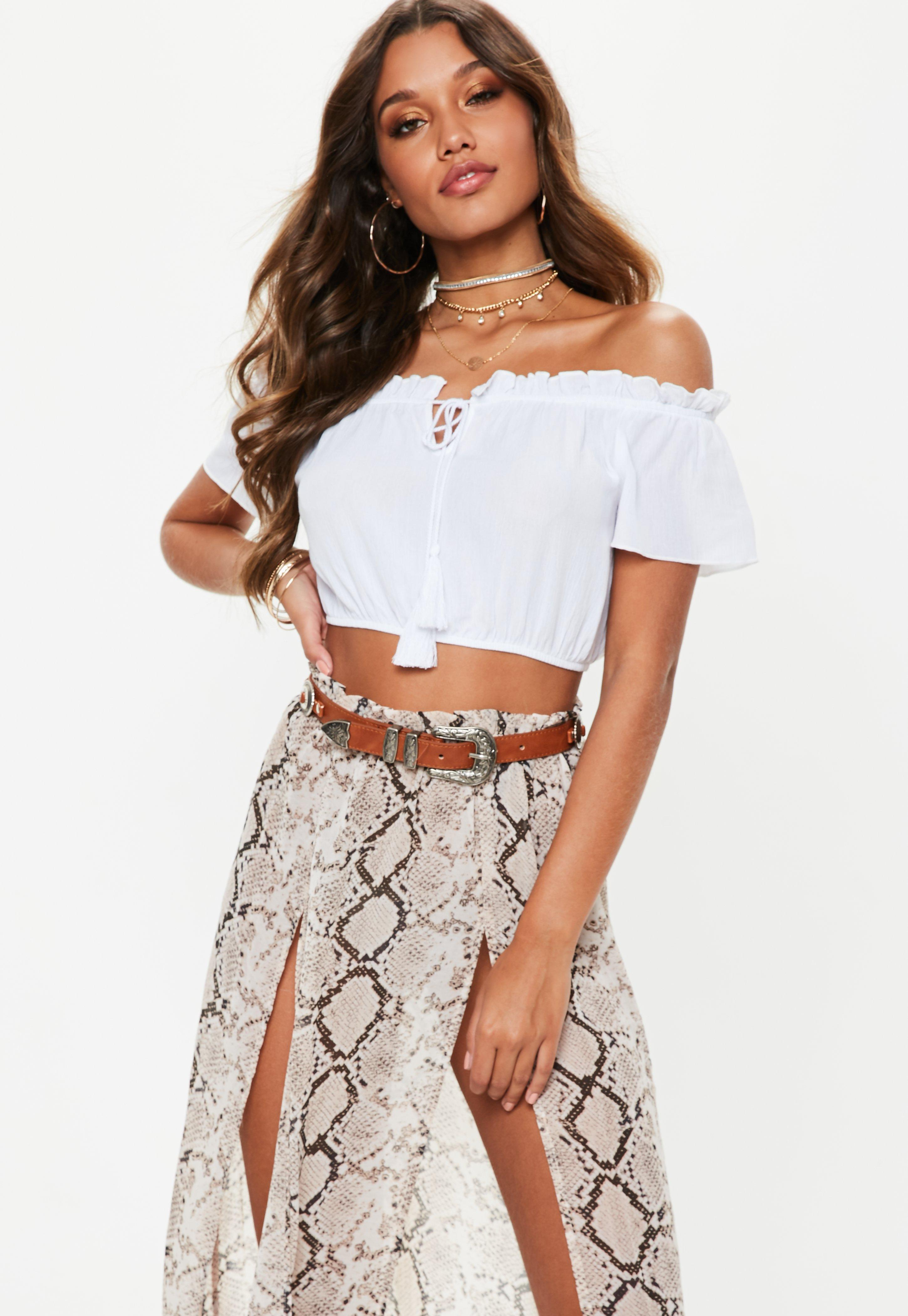 12caa99827c Bardot Tops - Off the Shoulder Tops | Missguided