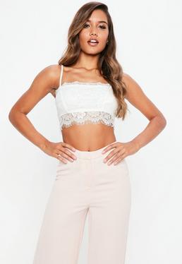 21a07d1235 Lace Bralets. Lace Cami Tops. Black Lace Bodysuits. Lace Cami