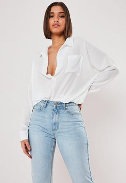 Low Cut Tops Plunge Deep V Tops Missguided