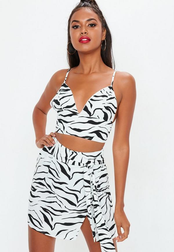 c8167705f7b90 White Zebra Print Bralet. Previous Next