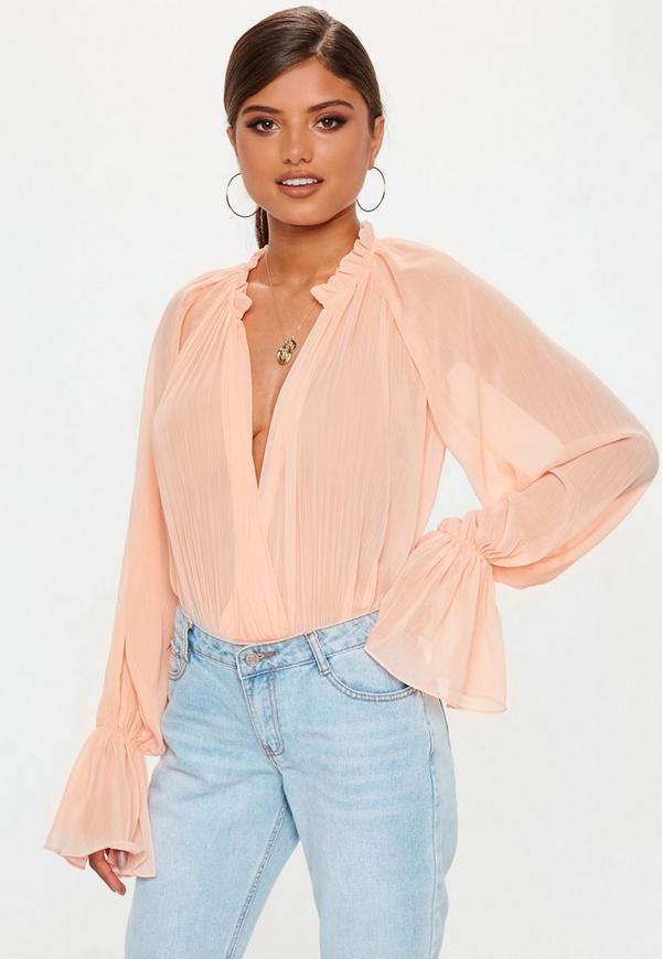 ... Pink Balloon Sleeve Bodysuit. Previous Next 60a9f0e99