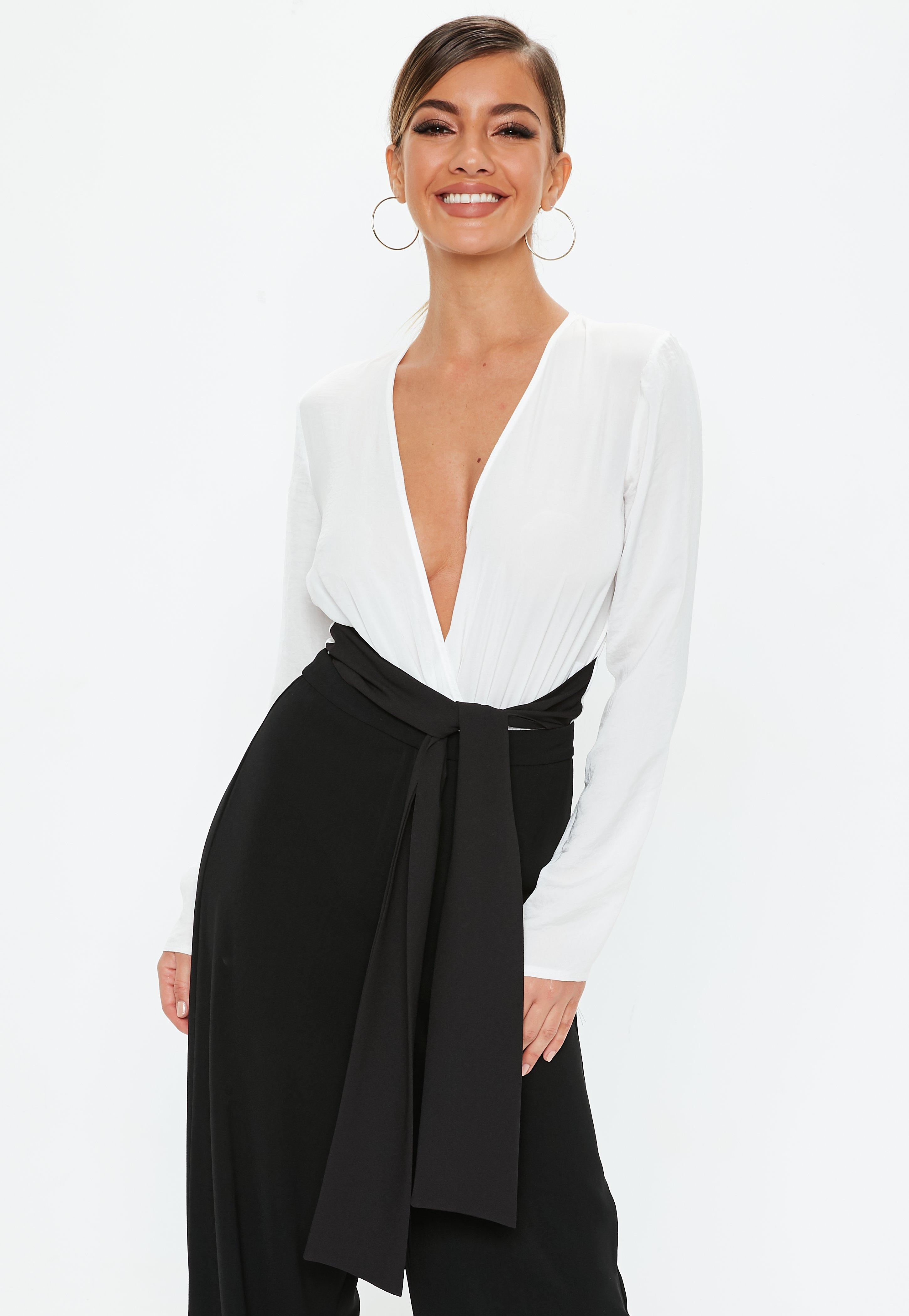Plunge Tops | Low Cut & V Neck Tops - Missguided