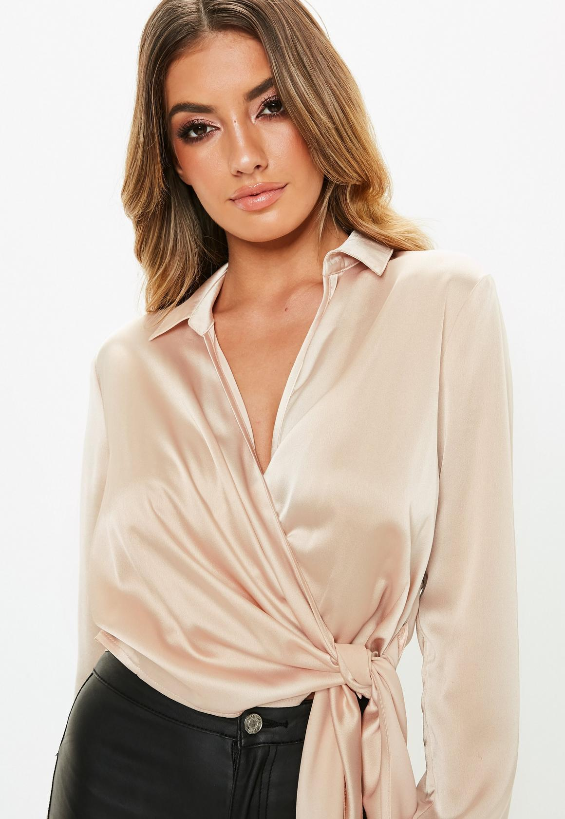 1a8ecf5dce64eb Missguided Satin Tie Side Blouse at £25 | love the brands