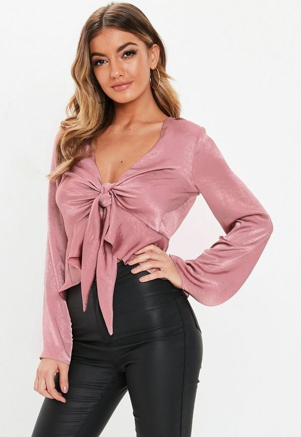 Blush Peplum Blouse by Missguided