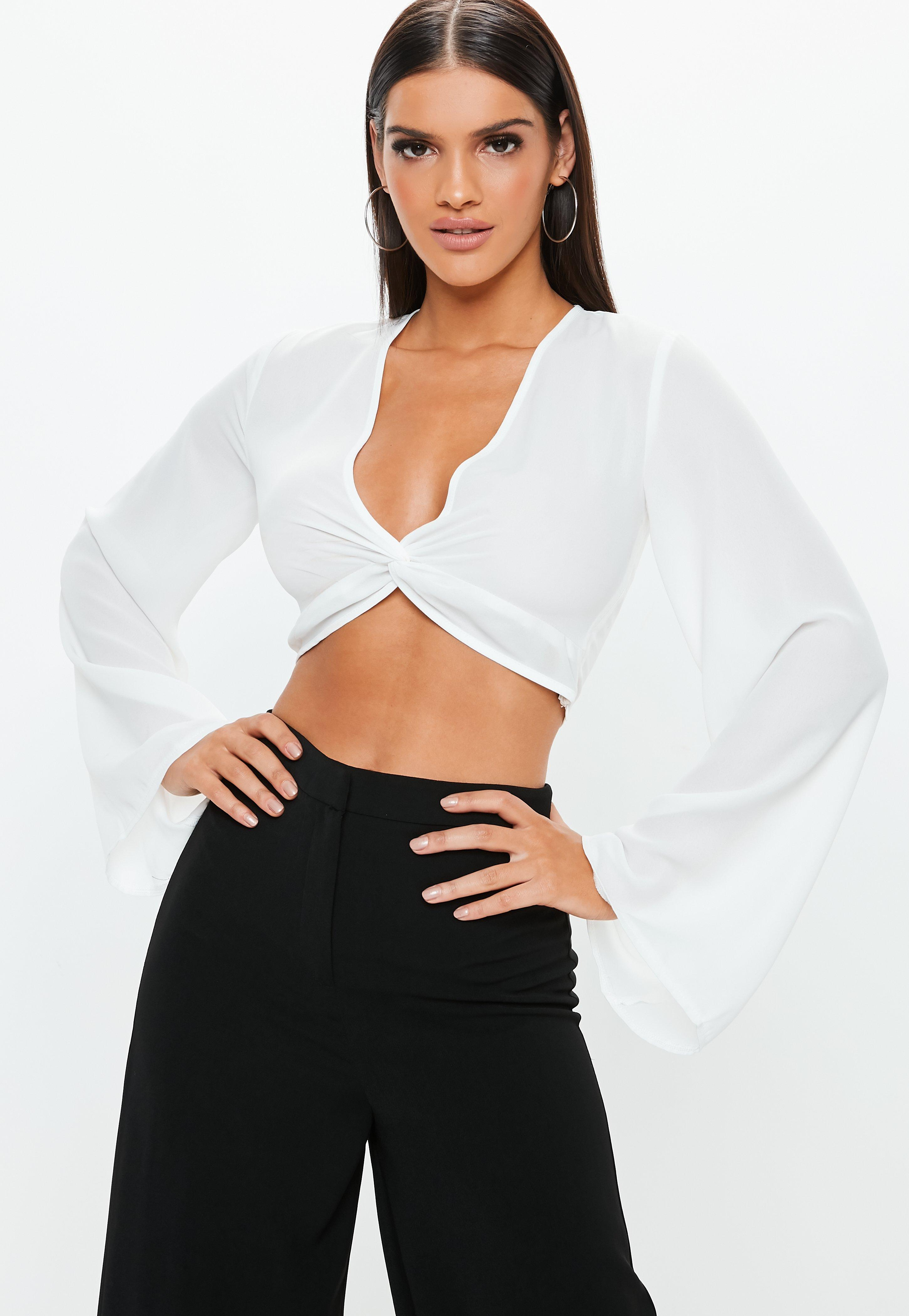 White Tops | Ivory & Off White Tops - Missguided