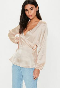 c24ce58b22ab26 Wrap tops - Tops - Clothing