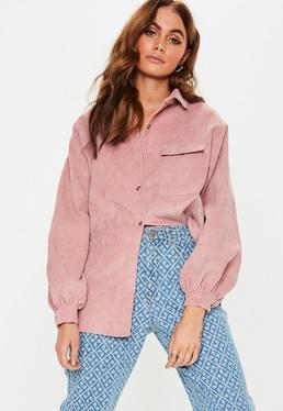0af88703621 Pink Pocket Front Cord Shirt