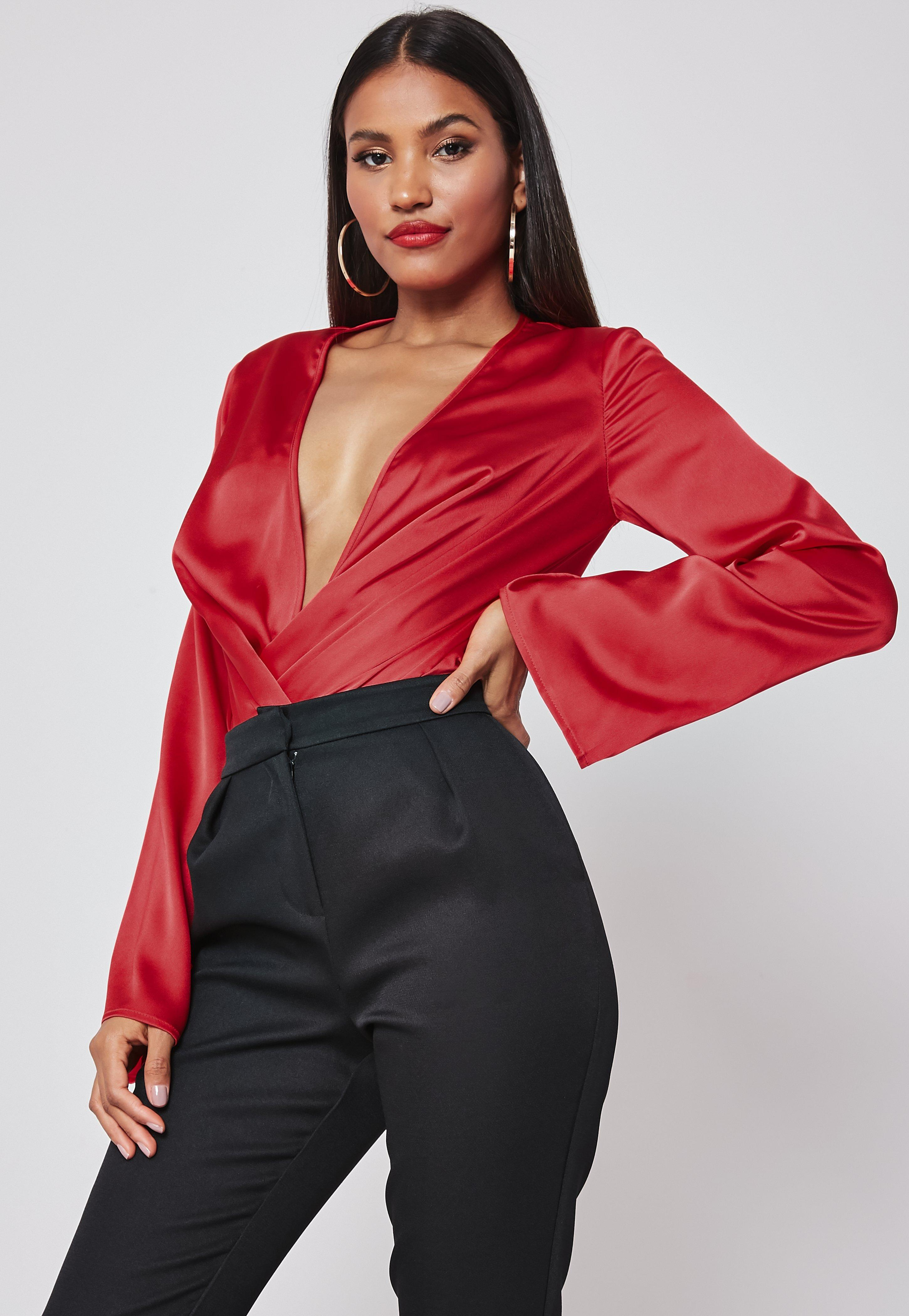 08e3b7fa11f2 Long Sleeve Bodysuits Online - Missguided