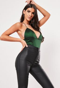 97298e9bbfe Green Tops | Emerald Green & Teal Tops - Missguided