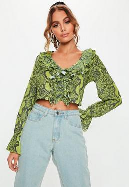 f84117ea Green Tops | Emerald Green & Teal Tops - Missguided