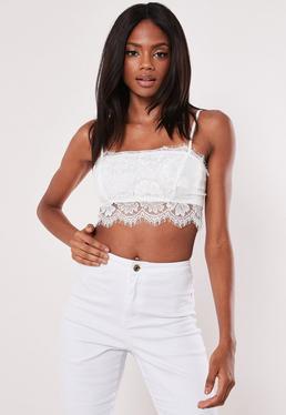 357d5c6c65 White Lace Overlay Bralet