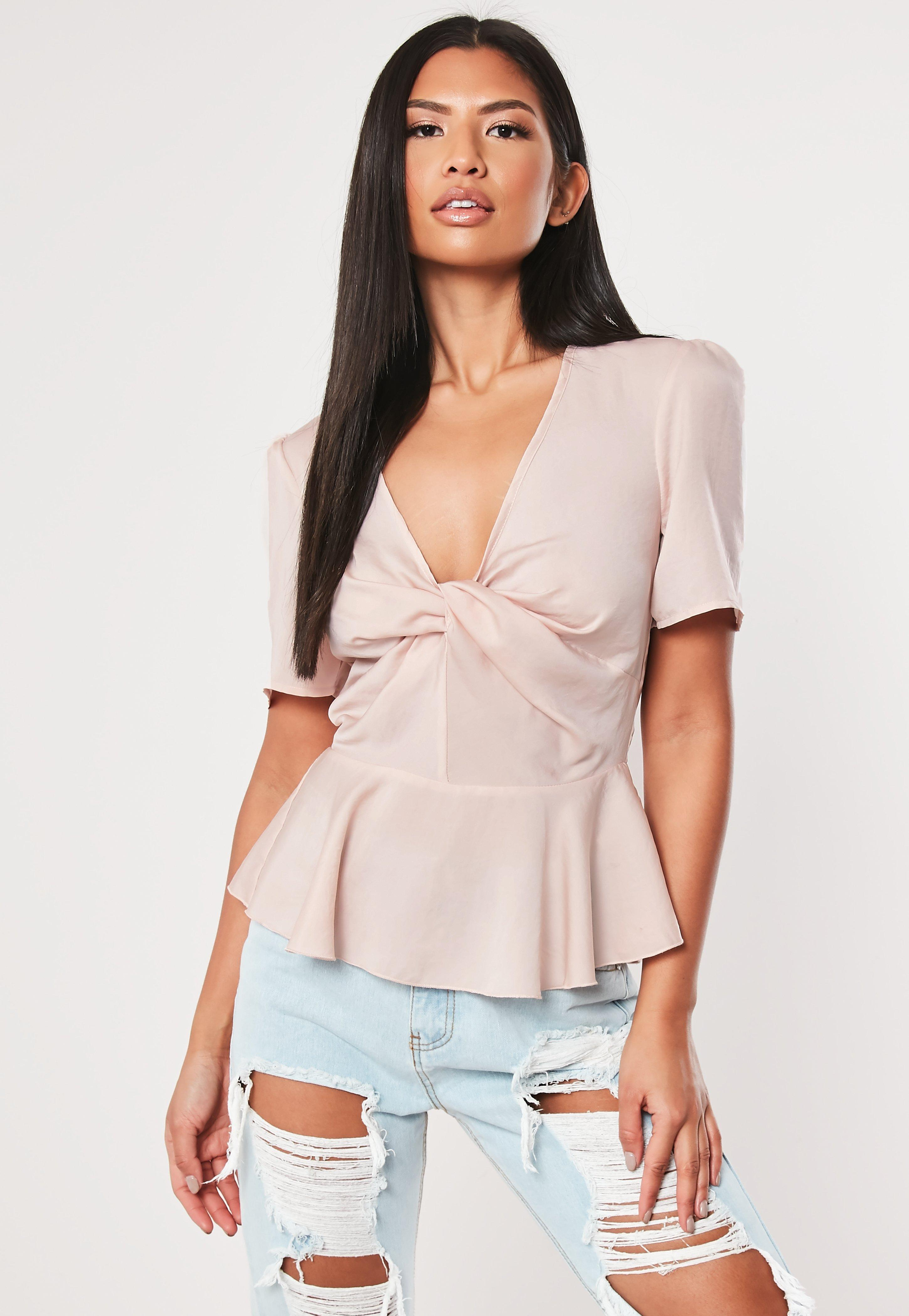 2a023c3546065 Plunge Tops | Low Cut & V Neck Tops - Missguided