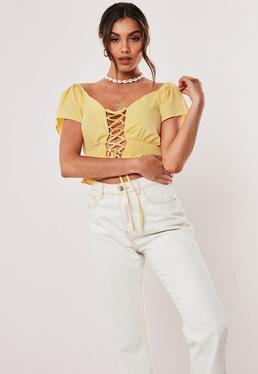 a3949e0f70 Yellow Crop Tops | Mustard & Lemon Crop Tops - Missguided