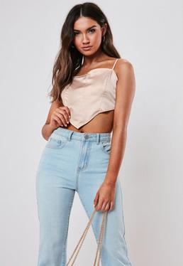 a7b2f2e66844 Satin Tops | Shop Silky Tops - Missguided