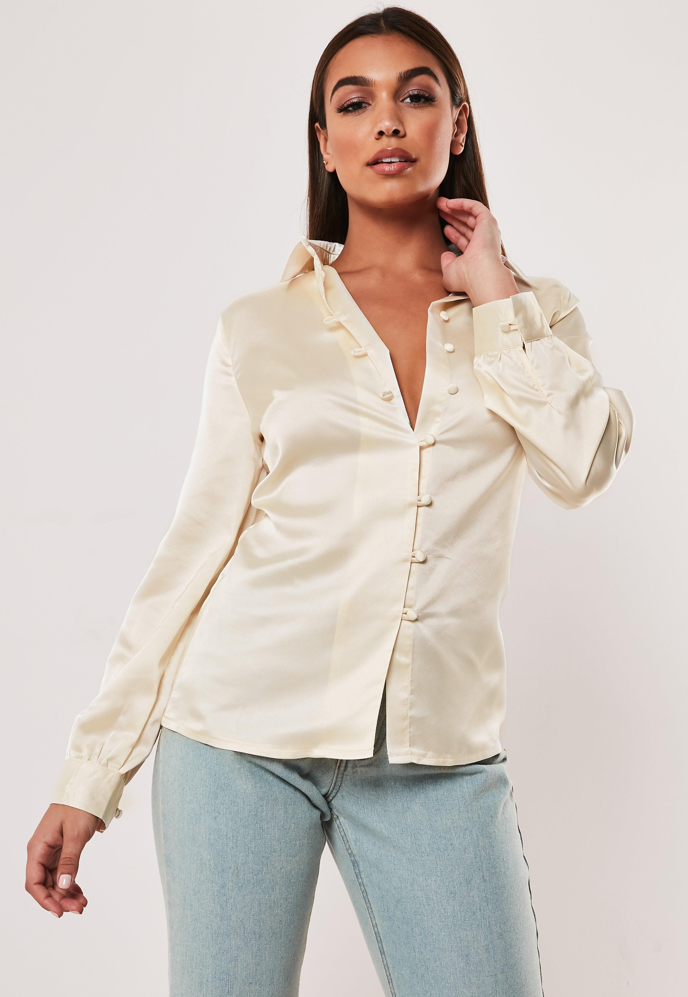 ef996811aeeab3 Satin Tops | Shop Silky Tops - Missguided