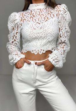 White Crop Tops | Plain White & Ivory