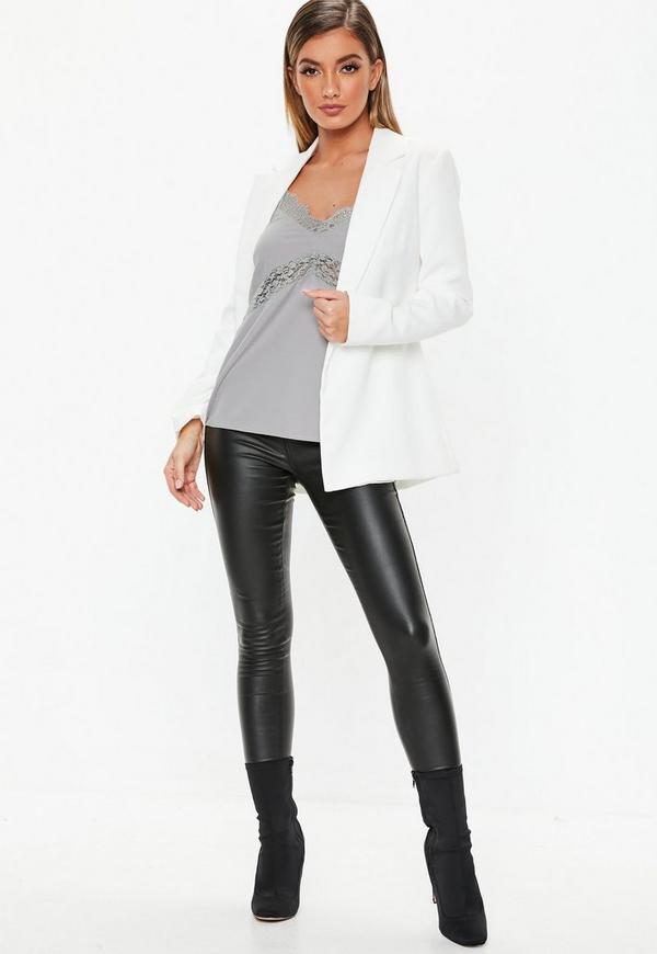 e5495d0f7281c9 Grey Lace Insert Cami Top. Previous Next