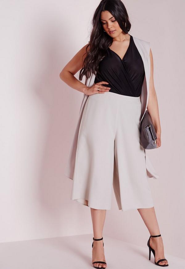 Plus Size Culottes Grey
