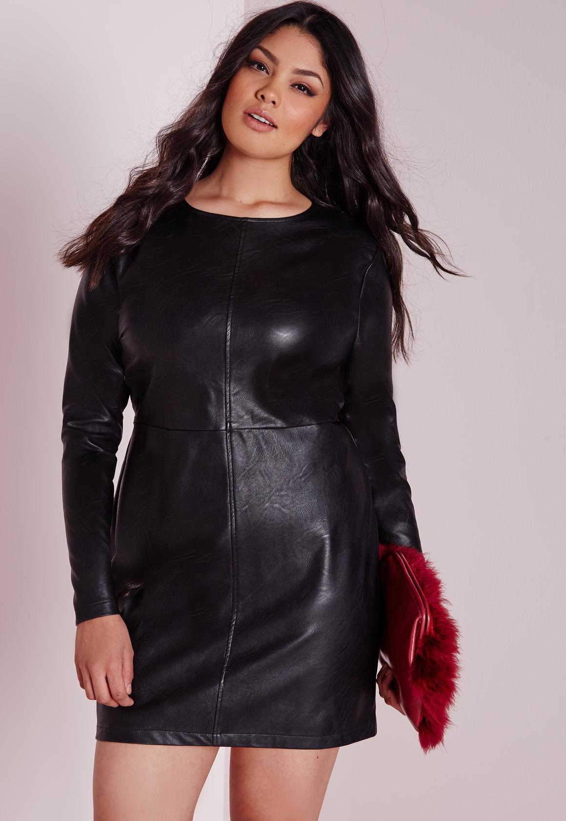 Plus Size Black Mini Dress_Black Dresses_dressesss