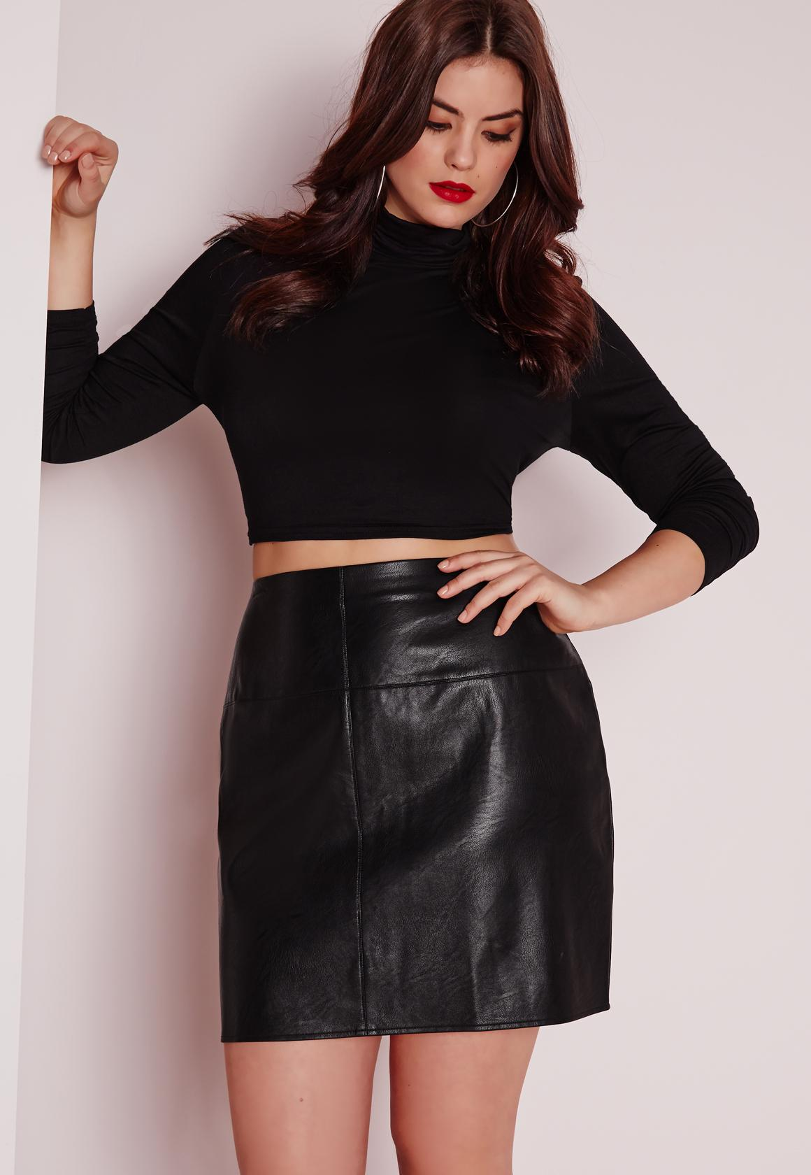 Plus Size Leather Skirt - Adult Archive-6678