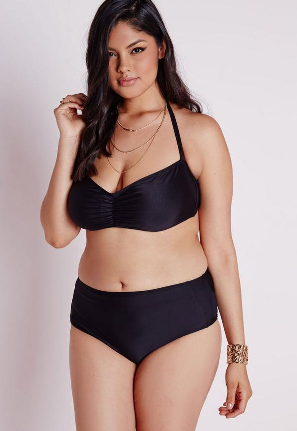 Plus size swimwear features flattering fits, supportive straps, thigh-minimizing styles and tummy control for a slimming silhouette, so you can look and feel your best while splashing around. Browse one pieces for overall coverage or show some skin in a plus size bikini.