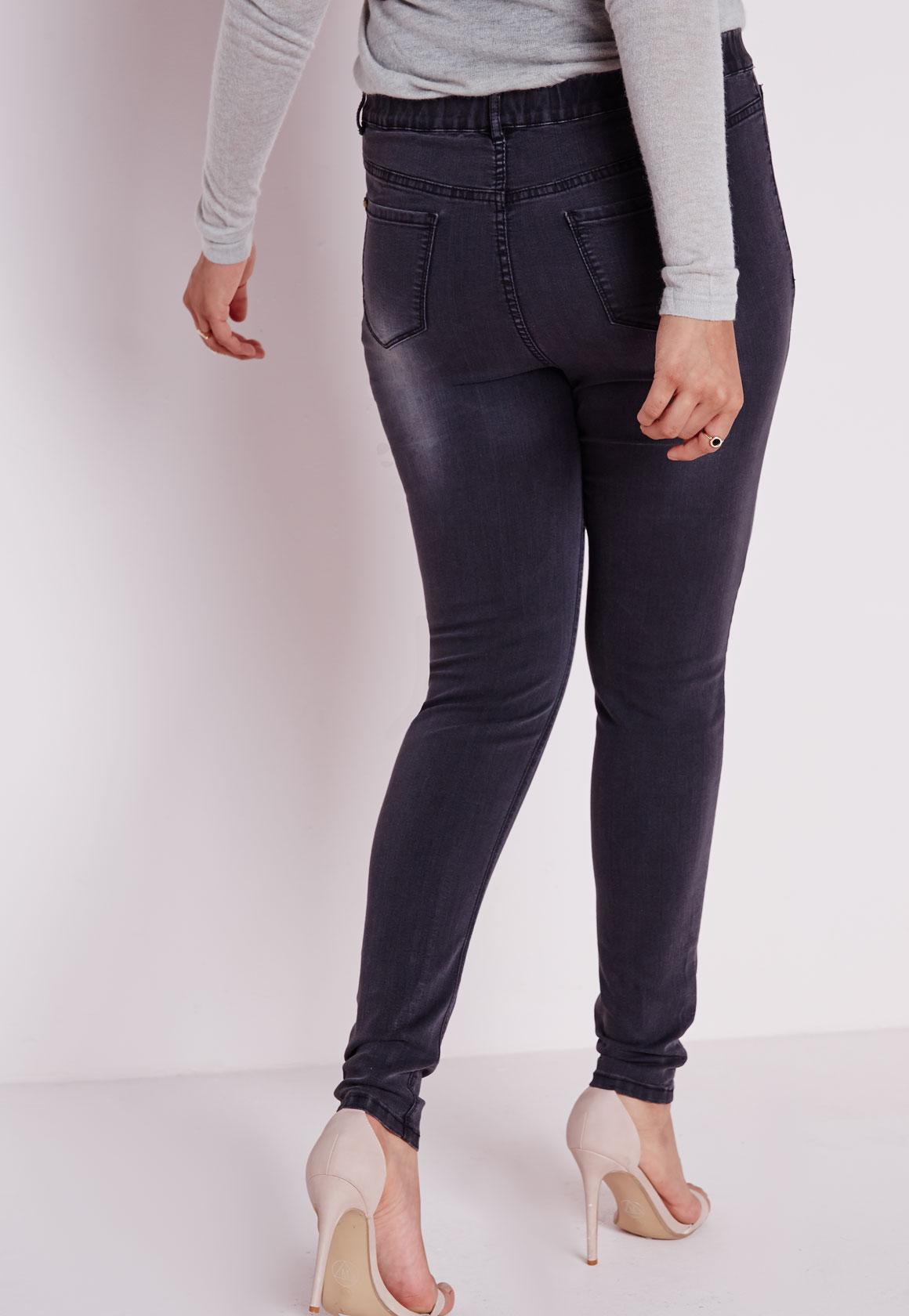Plus Size Denim Jeggings Black - Plus Size Leggings - Women's plus ...