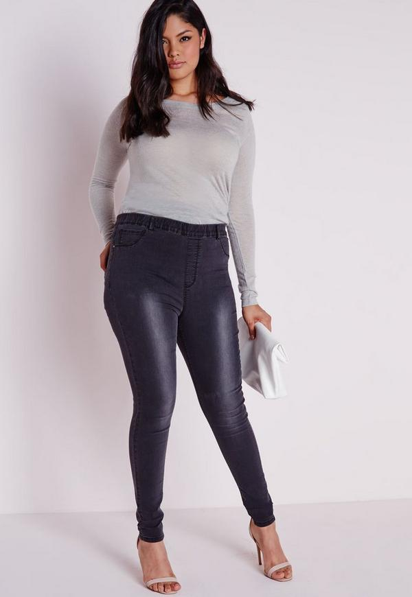 Plus Size Jeggings for Women. There's no denying it, our plus size jeggings are a staple in every woman's wardrobe. These are our #1 rated plus size jeans and our skinniest fit. Our plus size denim jeggings have a skinny fit from waist to ankle with no room for negotiation.