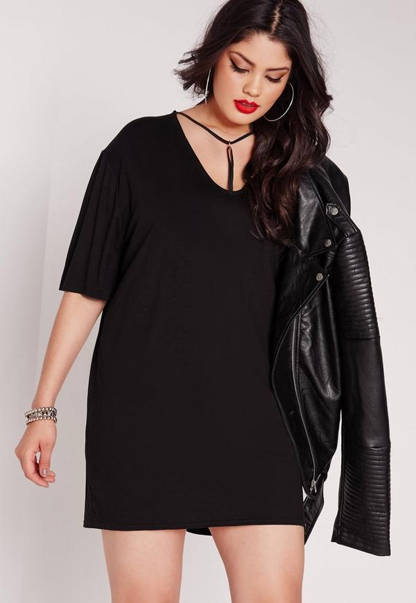 Plus Size Harness Dress Black