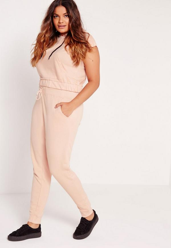 Plus Size Joggers Pink