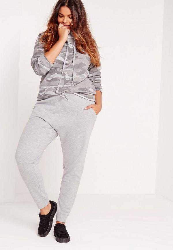 Plus Size Joggers Grey