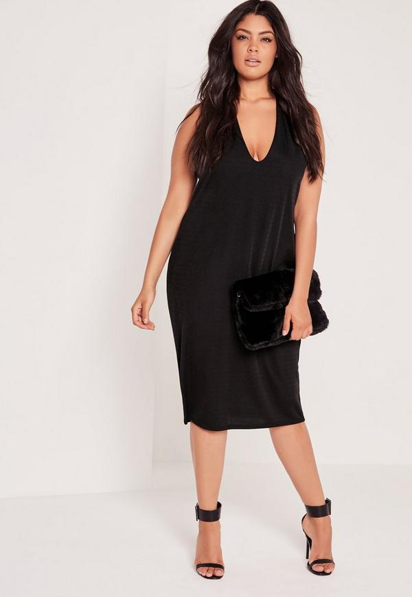 Black dress 1x v neck