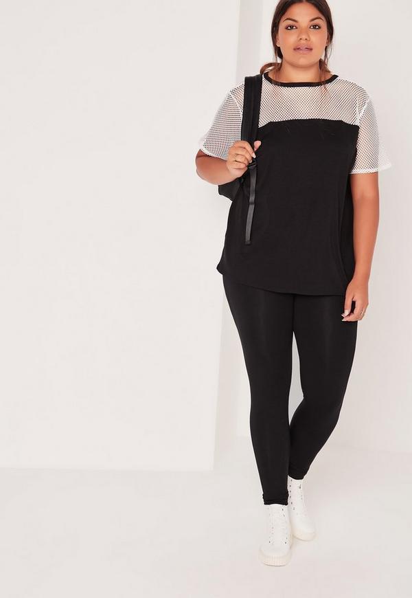 Plus Size Jersey Leggings Black