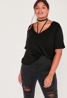 Plus Size Boyfriend T-Shirt Black