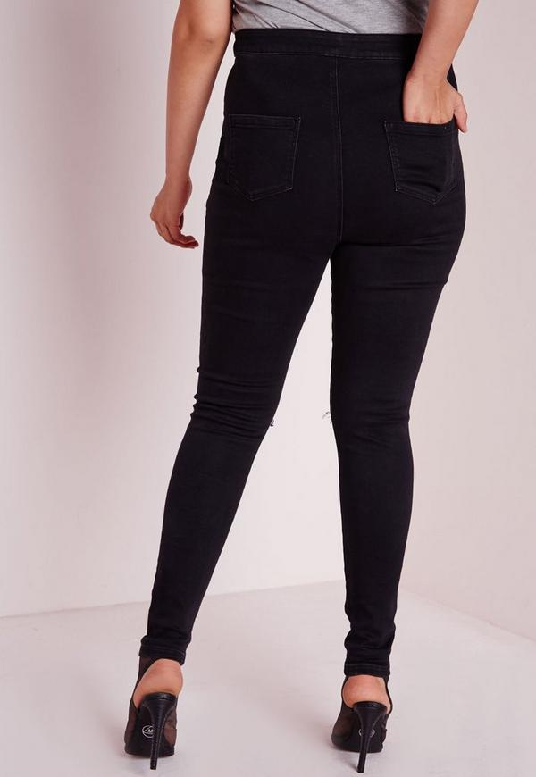 Plus-size Women's - Sequin Front Black Skinny Jean. Shine on, superstar! Get your sexy on in my new skinny jeans, featuring bold black denim, a smoking hot .