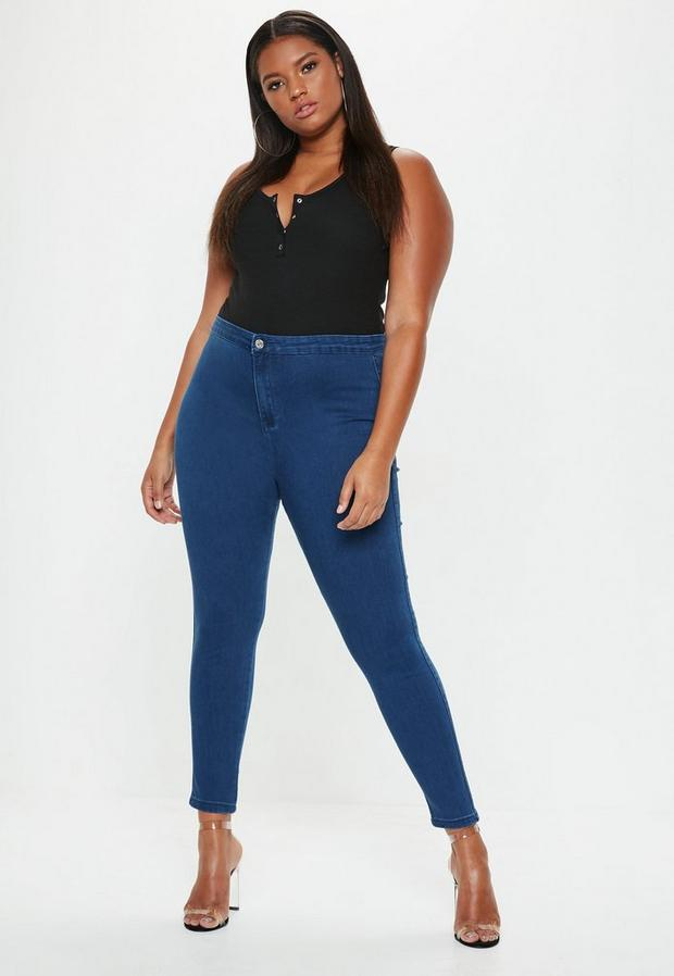 Missguided - Mid  High Waisted Skinny Jeans - 4