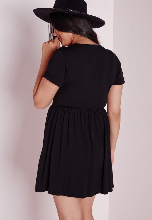 a0ae59b6885 Plus Size Jersey T-Shirt Skater Dress Black