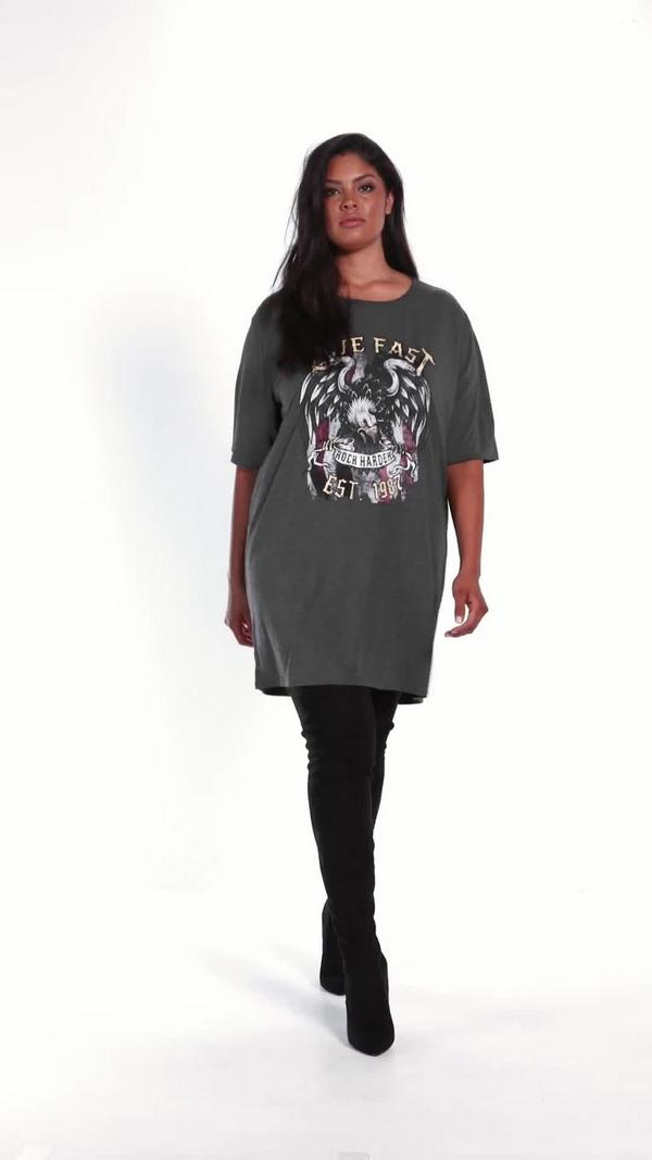 T shirt dress plus size