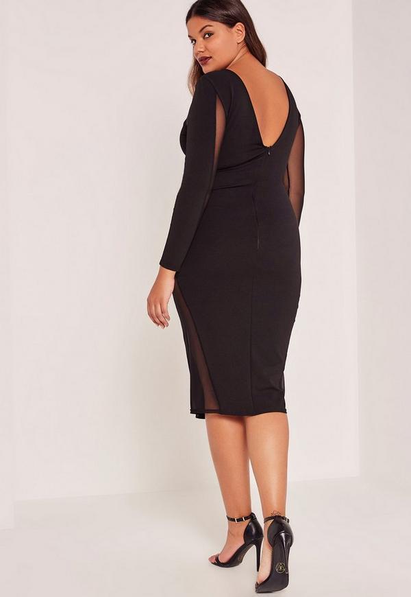 Plus Size Black Mesh Dressblack Dressesdressesss