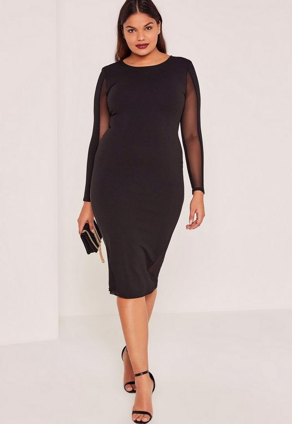 Plus Size Black Midi Dress Good Dresses