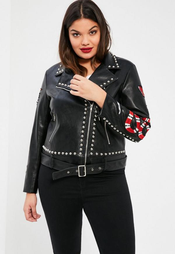 Shop for BLACK XL Faux Leather Plus Size Color Block Jacket online at $ and discover fashion at topinsurances.ga