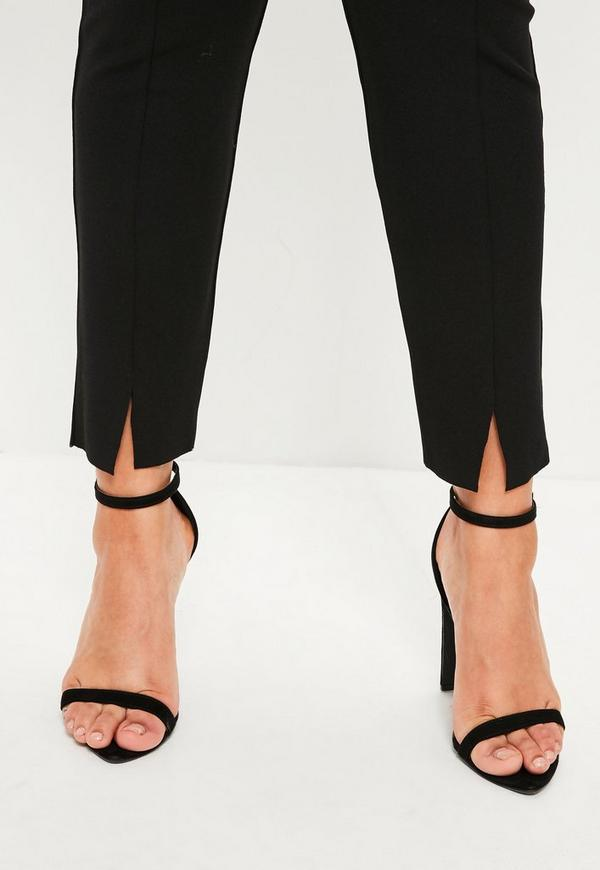 Plus Size Black Skinny Fit Cigarette Pants Missguided