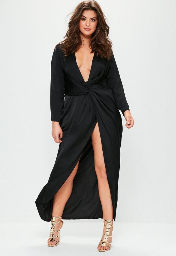 Robe longue noire taille 44