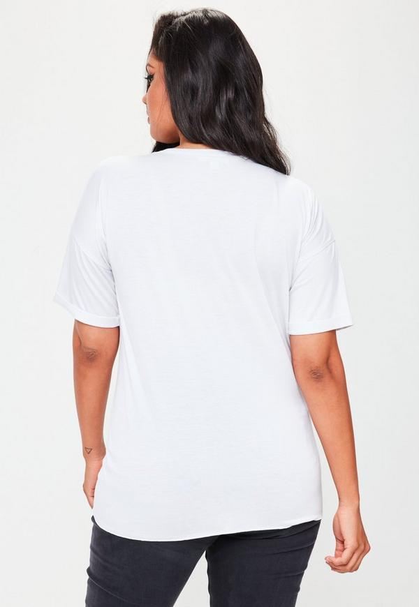 t shirt grande taille blanc d tail corset missguided. Black Bedroom Furniture Sets. Home Design Ideas