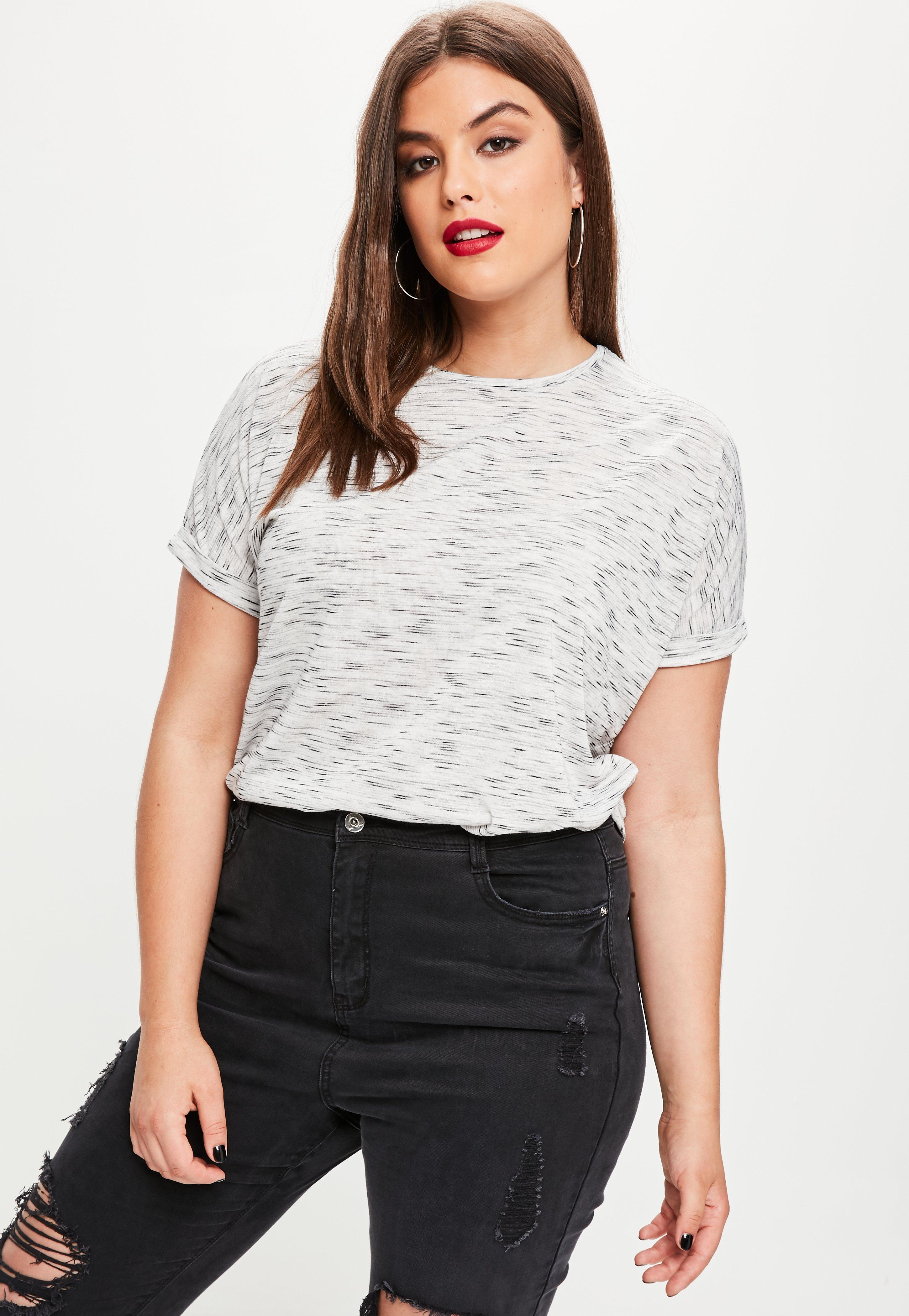 Plus Size Grey Space Dye Oversized T Shirt Missguided Australia
