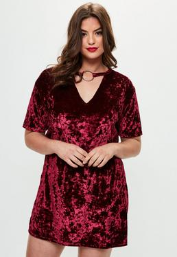 Curve Burgundy Velvet Dress